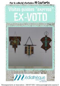 Exposition ex voto Cazères 2021 affiche